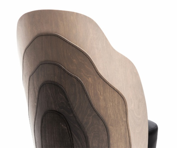 Unique Wood Layer Armchair Made With Wood Tailoring Technique