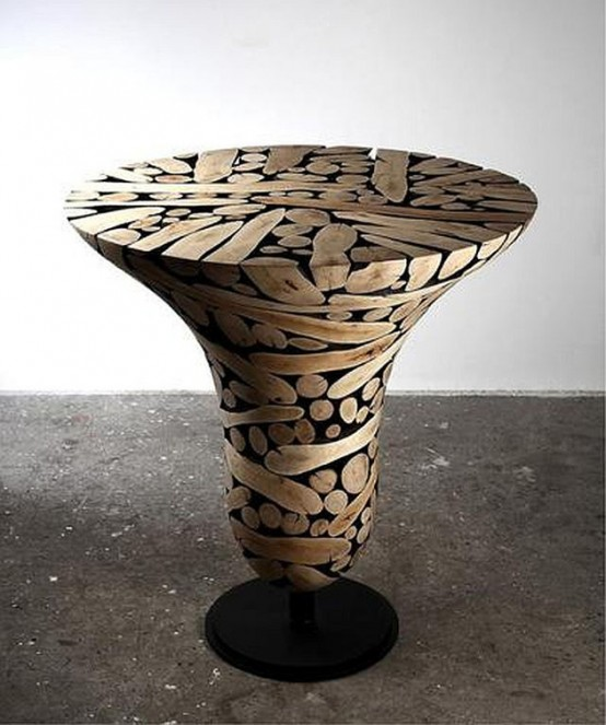 Unique Wooden Sphere Furniture And Art In One