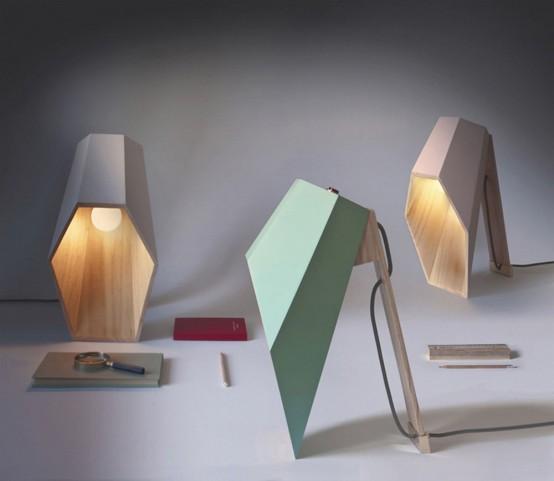 Unique Woodspot Table Lamp Of Pine