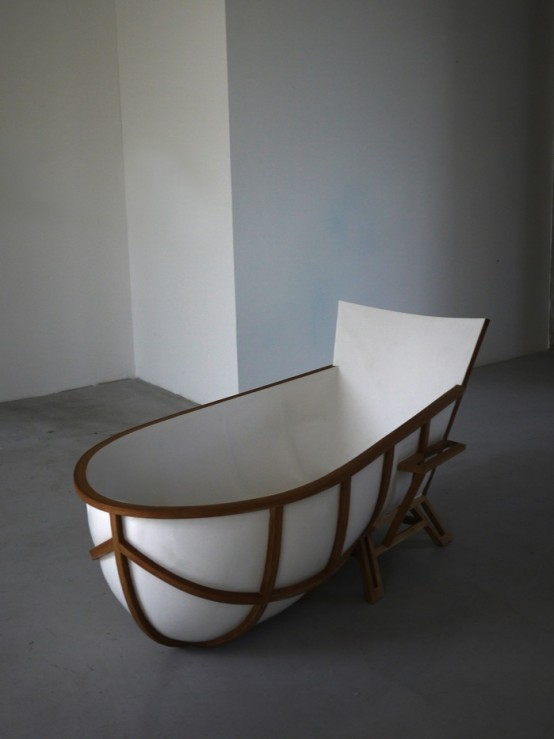 Very Unusual Bathtub Inspired by a Chair