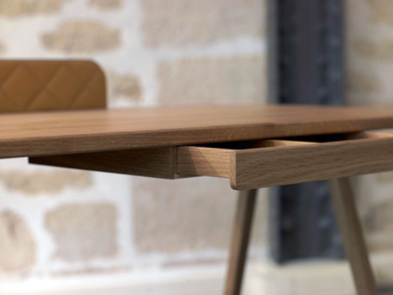 Unusual Big Boss Desk Metal Wood And Leather
