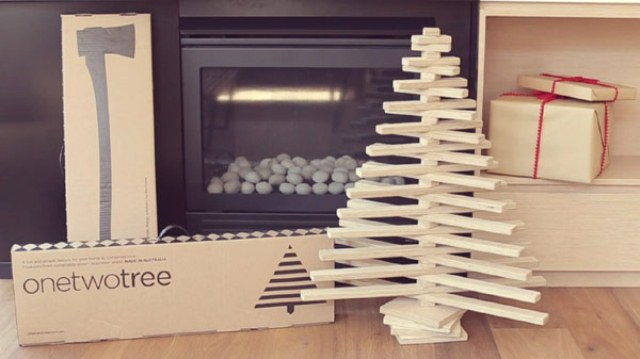 Unusual Eco-Friendly Christmas Tabletop Tree