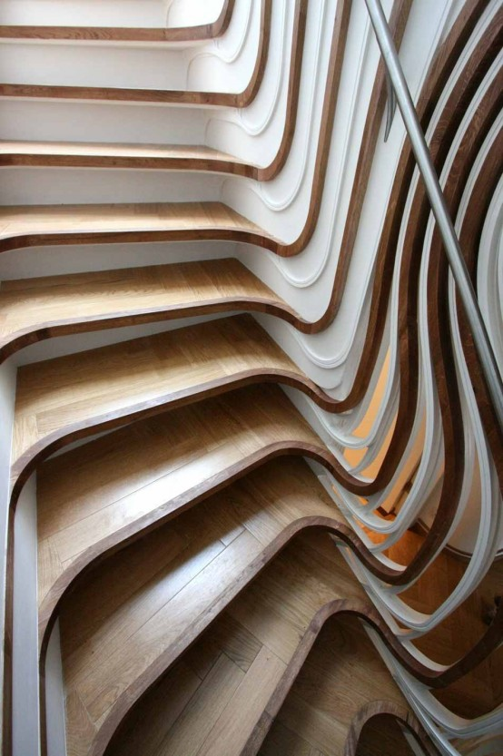 Unusual Curved Staircase