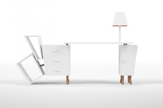 Unusual Desk Reminding Of A Cartoon Piece by Yeh Seletti