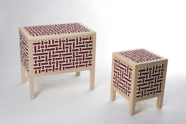 Unusual furniture covered with elastic bands digsdigs for Furniture 80s band