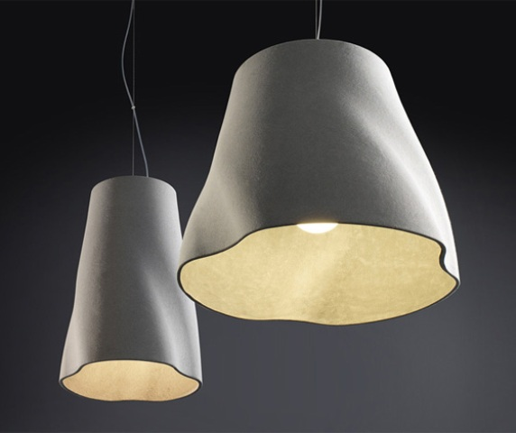 Unusual Soft Pendant Lights Of Cement By Rainer Mutsch