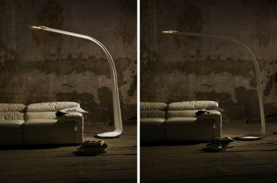 Unusually Shaped Floor Taaac Lamp