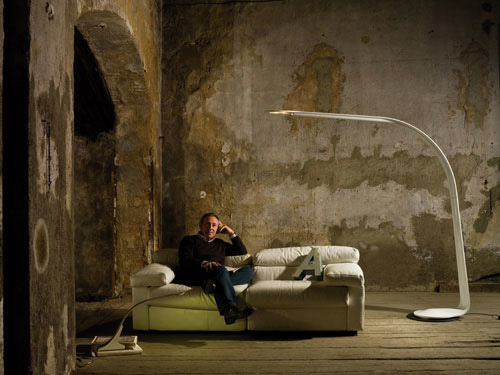 Unusually Shaped Desk and Floor Lamps – LOOP and TAAAC from Penta