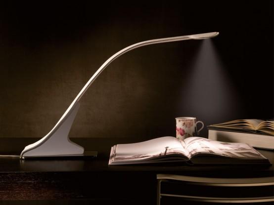 Unusually Shaped Tabletop Loop Lamp