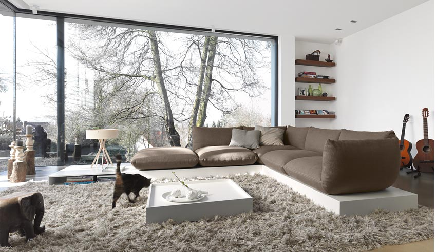 Upholstered Seating System That Consists Of Cushions on Pedestals – Jalis by COR