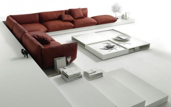 Upholstered Furniture On Platform