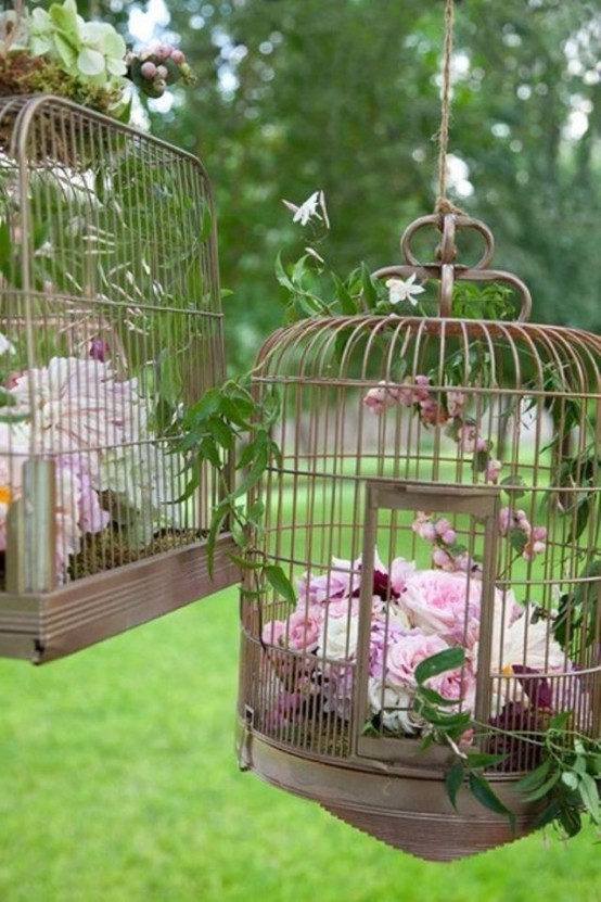 Using bird cages for decor 66 beautiful ideas digsdigs - Decoration cage oiseau ...
