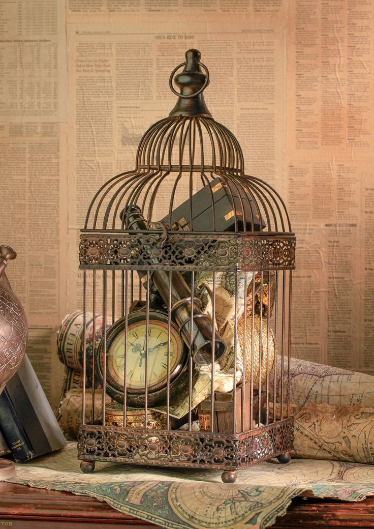 Using bird cages for decor 46 beautiful ideas digsdigs for Decoration usine vintage