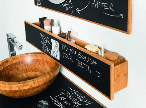Ususual Bathroom Furniture For Chalking On It