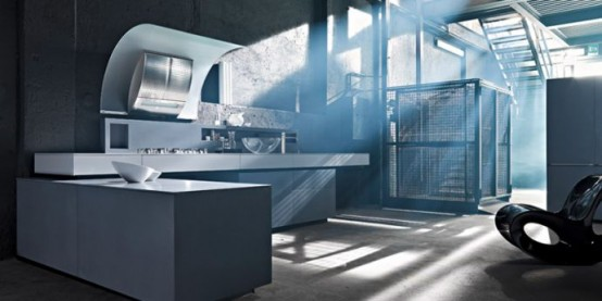 Dolmen – Modern and Rustic Kitchen Design by Valcucine