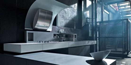 Valcucine Dolmen Modern Rustic Kitchen