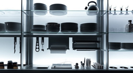 Extremely Ergonomic Kitchen Design - New Logica by Valcucine - DigsDigs