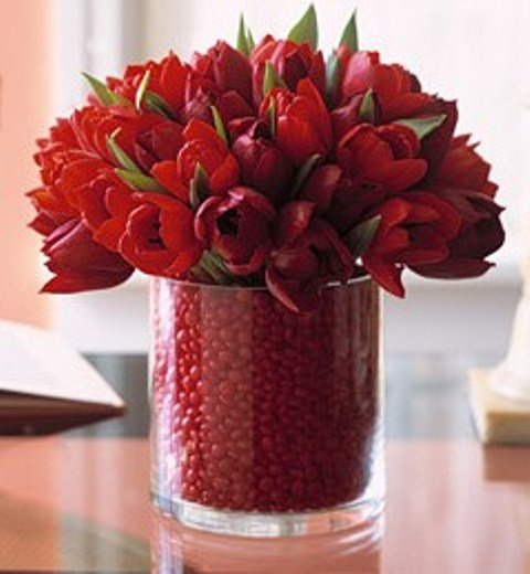 Valentines Day Decor With Flowrrs Fruit And Berries