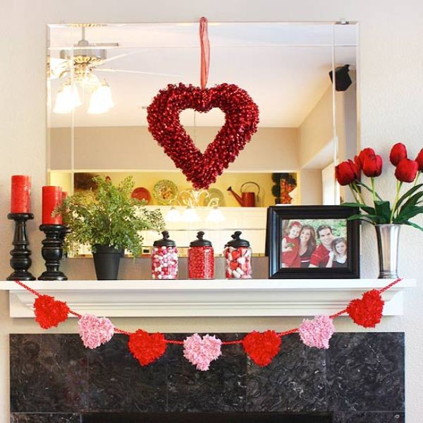 17 cool valentine s day house decoration ideas digsdigs for Valentine decorations to make at home
