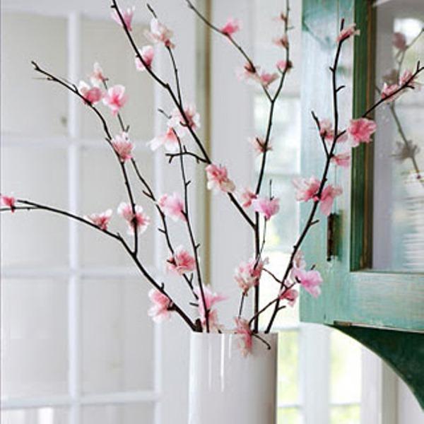 Цветы на ветки своими руками