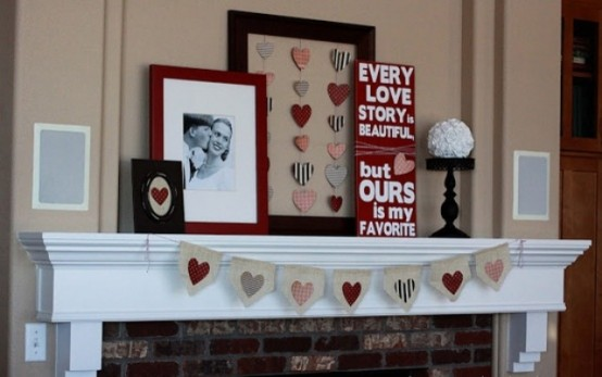 Valentines Day Mantel Decor Ideas