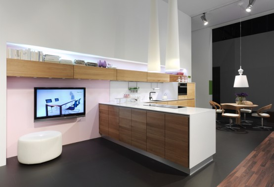 Handle Less Natural Kitchen Design Vao By Team7 Digsdigs