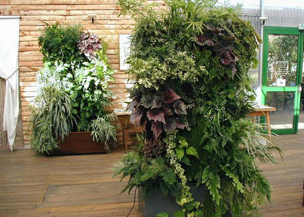 Advertisement for Vertical garden design