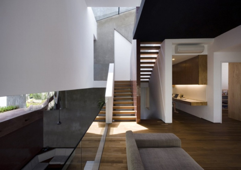 Vertical Plan House With Greenery In Singapore