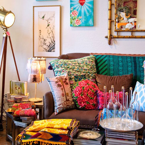 Very Colorful Living Room