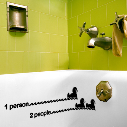 Very Funny Vinyl Stickers For Original Bathroom By Hua2