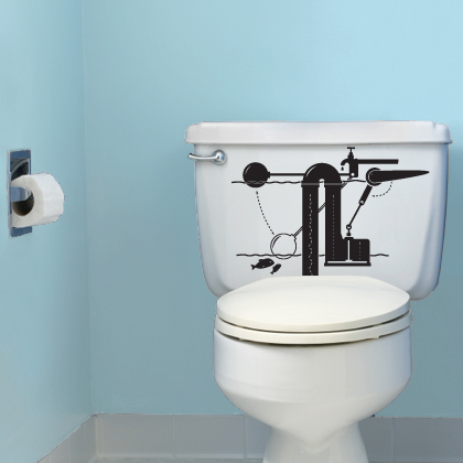 Very Funny Vinyl Stickers For Bathroom By Hua