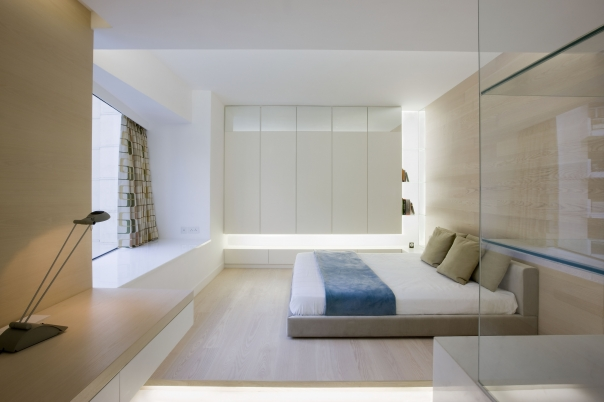 Very modern apartment design inspired by nature living Modern minimalist master bedroom