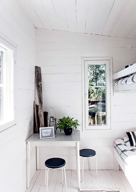 Very Simple Finnish Summer House In Black And White