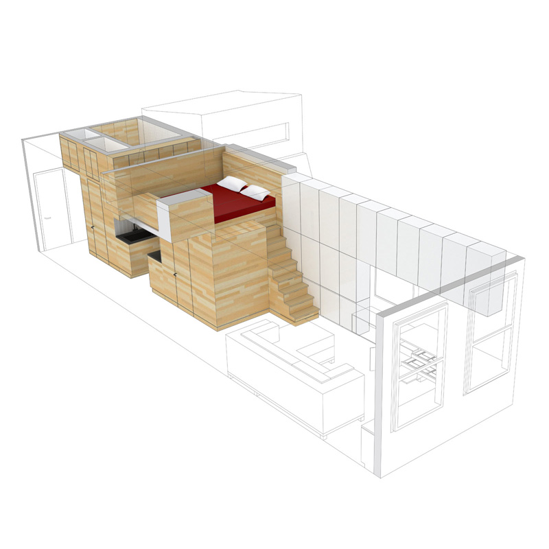 Very Tiny Loft Studio Design