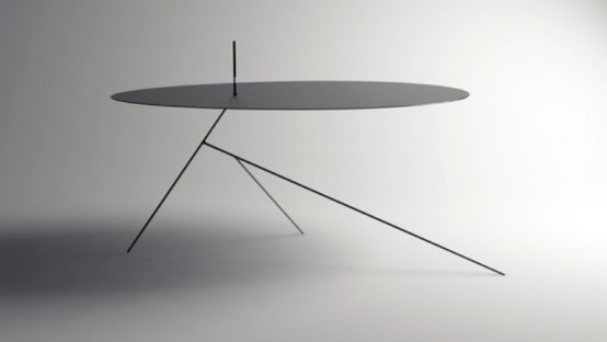 The Thinnest Minimalist Black Table Ever