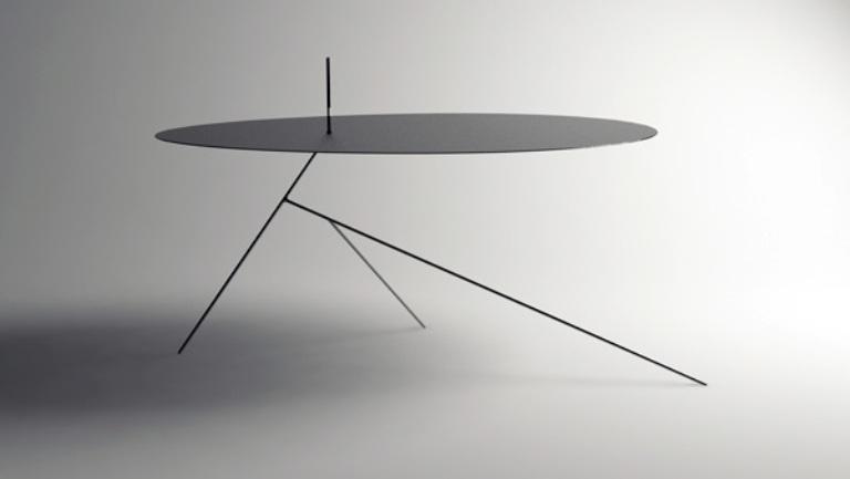 The Thinnest Minimalist Black Table Ever
