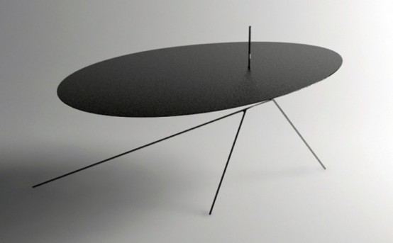 Very0thin Minimalist Black Table