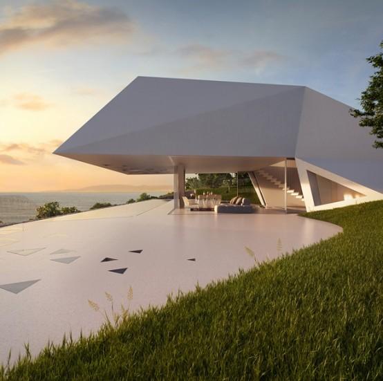 Villa F With Impressive Futuristic Architecture