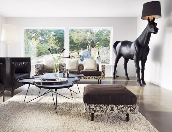 Villa With A Horse In The Living Room