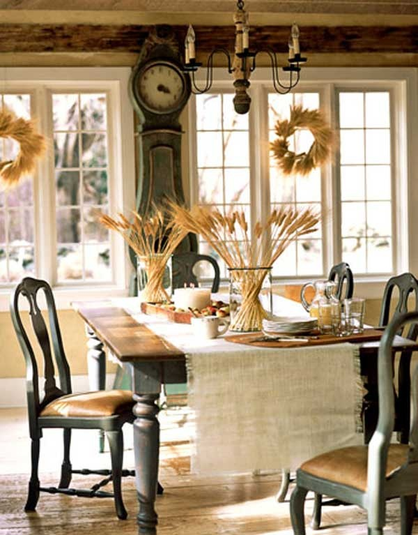 24 vintage and shabby chic thanksgiving d cor ideas digsdigs for Dining room ideas vintage