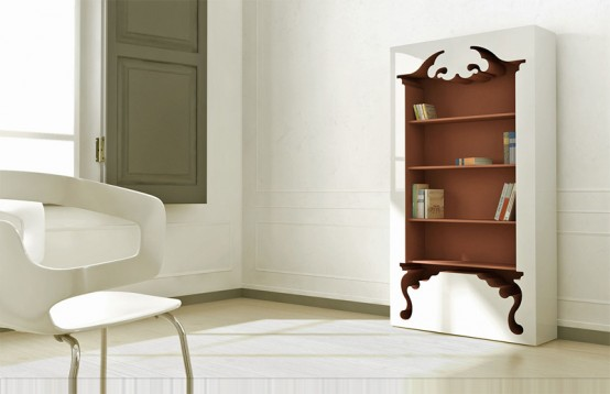 Vintage Bookcase In Modern Form