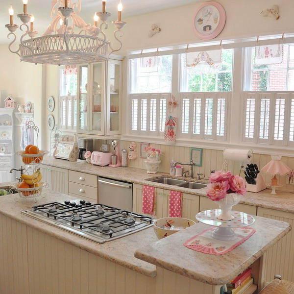 Cool Vintage Candy-Like Kitchen Design With Retro Details