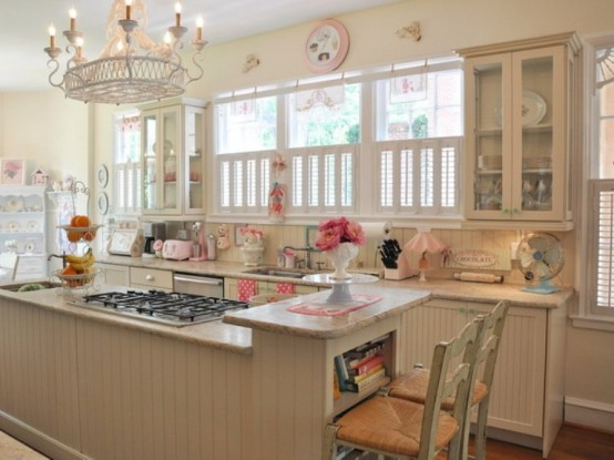 Cool Vintage Candy-Like Kitchen Design With Retro Details - DigsDigs