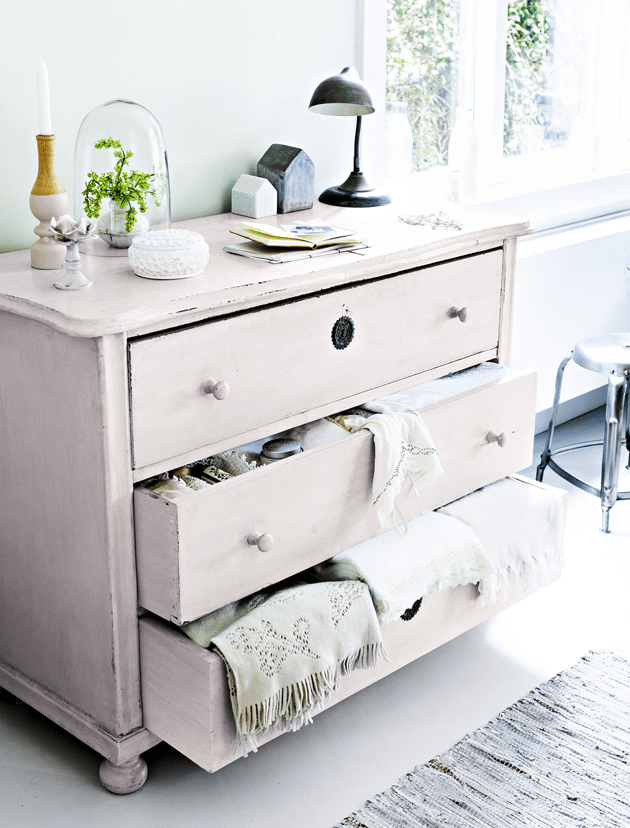 Vintage Feminine Home With Blush Pink Accents