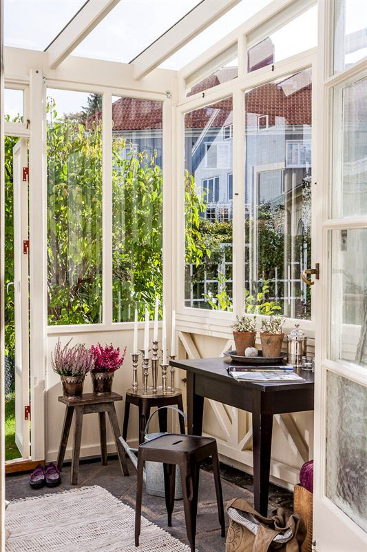 Vintage Glass Veranda For Relaxation