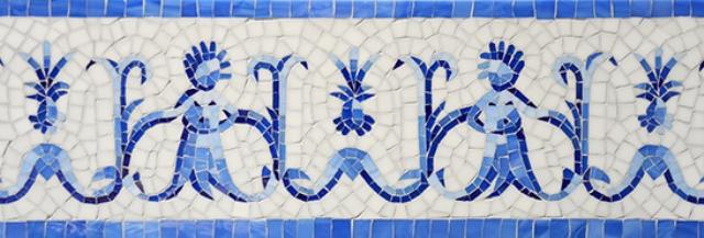 Pineapple People Jewel Glass Mosaic