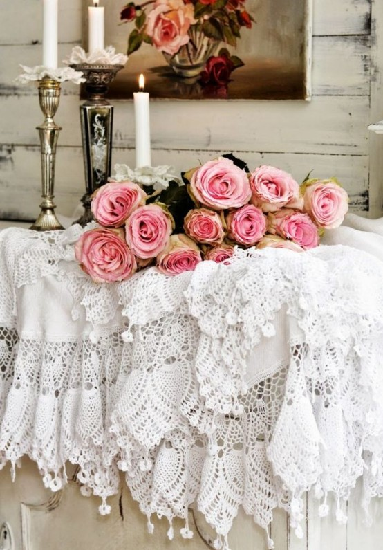 Vintage Romance Lace Home Decor Ideas