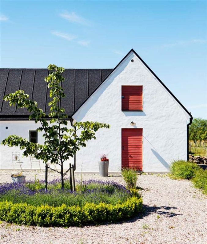 Vintage scandinavian house with shabby chic digsdigs for Scandinavian farmhouse plans