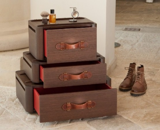 Vintage-Styled Drawers Inspired By Old Suitcases