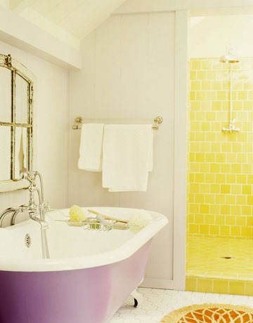 Violet Yellow Bathroom